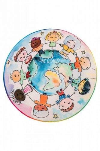Obsession AKCE: 120x120 (průměr) kruh cm Dětský kusový koberec Juno 477 World Map kruh 120x120 (průměr) kruh