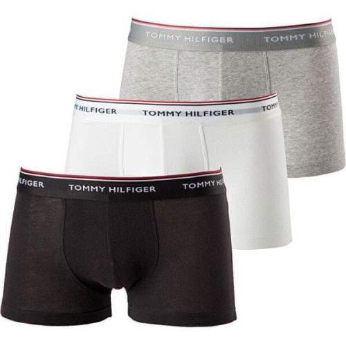 Tommy Hilfiger 3 PACK - pánské boxerky Low Rise Trunk 1U87903841-004 (Velikost S)