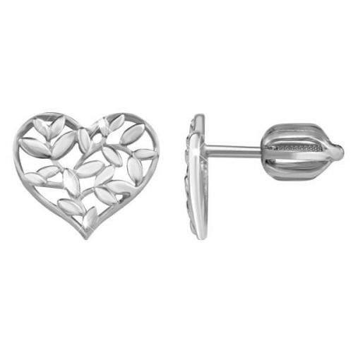 Brilio Silver Stříbrné náušnice Srdce 431 001 02762 04