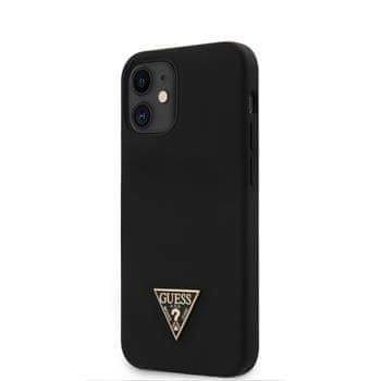 Guess GUHCP12SLSTMBK Guess Silicone Metal Triangle Zadní Kryt pro iPhone 12 mini 5.4 Black