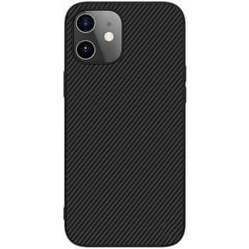 Nillkin Synthetic Fiber Ochranný Zadní Kryt pro iPhone 12 mini 5.4 Black