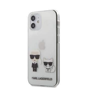Karl Lagerfeld KLHCP12SCKTR Karl Lagerfeld PC/TPU Karl &Choupette Kryt pro iPhone 12 mini 5.4 Transparent