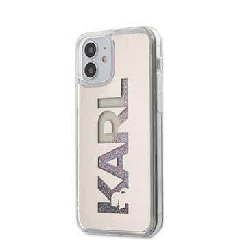 Karl Lagerfeld KLHCP12SKLMLGR Karl Lagerfeld Liquid Glitter Multi Mirror Kryt pro iPhone 12 mini 5.4 Silver