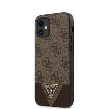 Guess GUHCP12SPU4GHBR Guess 4G Triangle Zadní Kryt pro iPhone 12 mini 5.4 Brown