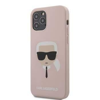 Karl Lagerfeld KLHCP12MSLKHLP Karl Lagerfeld Head Silikonový Kryt pro iPhone 12/12 Pro 6.1 Light Pink