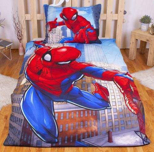 TopProsteradla.cz Povlečení z mikrovlákna 140x200+70x90 Spiderman Blue