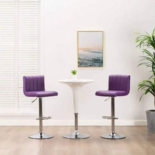 shumee Barové stoličky 2 ks fialové umělá kůže