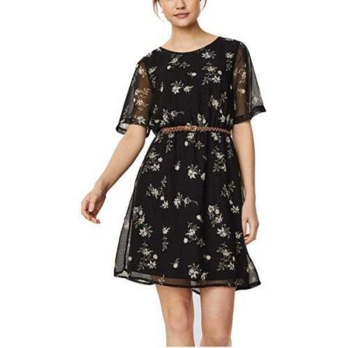 Vero Moda Dámské šaty VMFALLIE BELT 10233523 Black (Velikost XS)