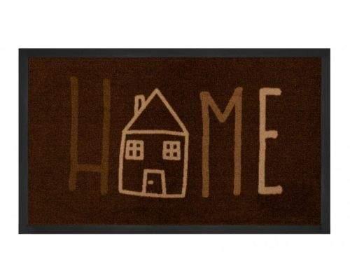 Hanse Home AKCE: 45x75 cm Protiskluzová rohožka Printy 103799 Brown Creme 45x75