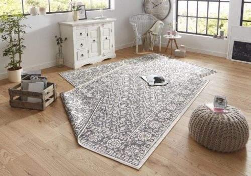 Bougari AKCE: 80x250 cm Kusový koberec Twin-Wendeteppiche 103116 grau creme 80x250