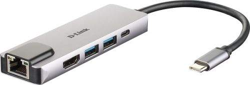 D-Link 5-in-1 USB-C Hub with HDMI/Ethernet and Power Delivery