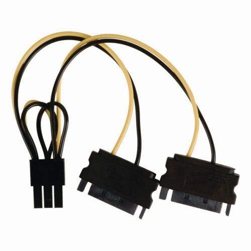 NEDIS KERR s.r.o. Nedis CCGP74205VA015 - Interní napájecí kabel   2x SATA 15-pin Zástrčka - PCI Express Zásuvka   0,15 m   Různé
