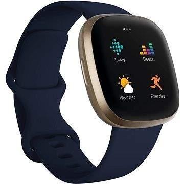 Chytré hodinky Fitbit Versa 3 - Midnight/Soft Gold Aluminum