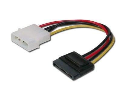 Digitus redukce napájení MOLEX na 1x SATA 15-pin přímý, 15 cm
