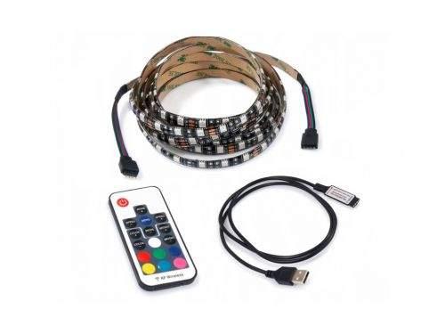 MILIO LED pásek za TV - 5V - 5m - 60LED/m - 72W - IP20 - RGB - dálkové ovládání