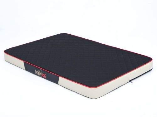 HobbyDog Matrace pro psa Premium Cordura - černá s béžovou Velikost: M - 80 x 54 x 8 cm