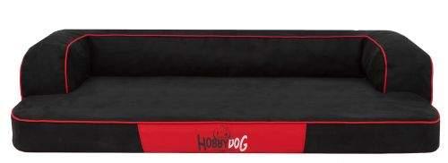 HobbyDog Ortopedický pelíšek pro psa Splendor - černý Velikost: L - 80x50x20 cm