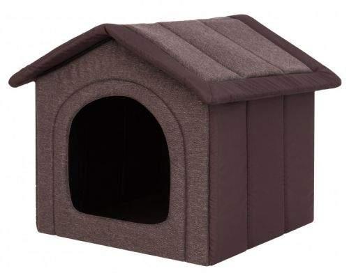 HobbyDog Látková bouda pro psa - tmavě hnědá Velikost: R1 - 38 x 32 x 38 cm