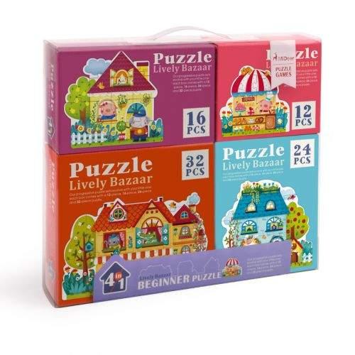 MiDeer Puzzle 4 v 1 Pohádkové město