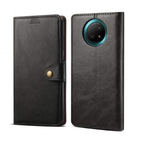 Lenuo Leather pro Xiaomi Redmi Note 9T, černé