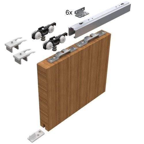 HELM Sada kování pro posuvné dveře 1700 mm do 50 kg, hliník