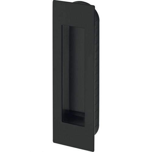 MARCHESI Plochá mušle pro posuvné dveře 155 x 45 x 2 mm, nerez černý
