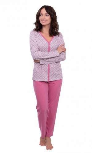 Wadima Dámské pyžamo s dlouhým rukávem 104571 488 růžová M-4