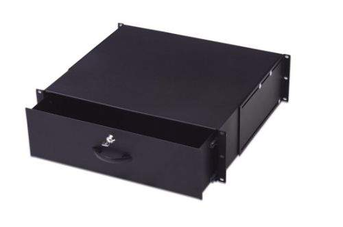 "Digitus 19"" uzamykatelný šuplík 2U barva černá RAL 9005"