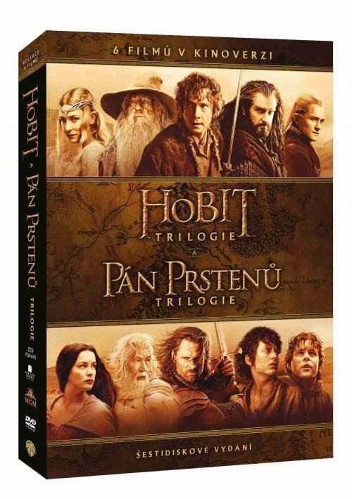 Kolekce Středozemě: Pán prstenů / Hobit (6 DVD) - kinoverze