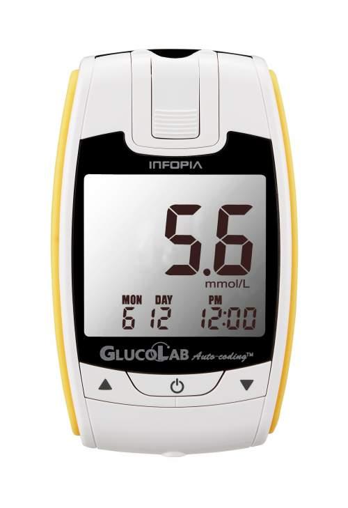 Glucolab Glukometr s 25 ks testovacích proužků + 25 lancet