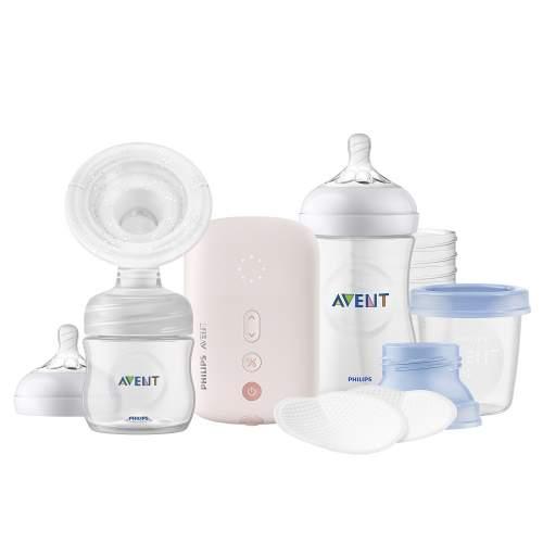 Avent Odsávačka mateřského mléka Natural elektronická Single set