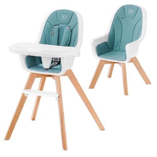 Kinderkraft Židlička jídelní 2v1 Tixi 2020 Turquoise