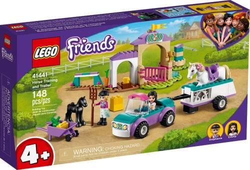 LEGO Auto s přívěsem a výcvik koníka 41441