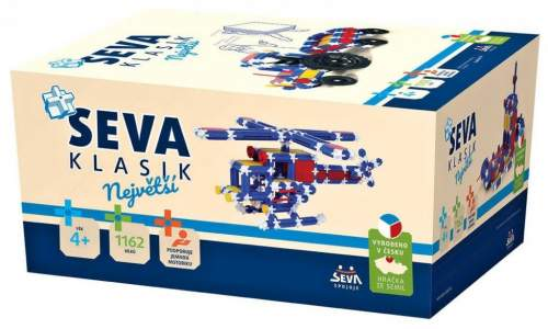 Stavebnice SEVA - Klasik Největší 1162 ks v krabici - neuved...