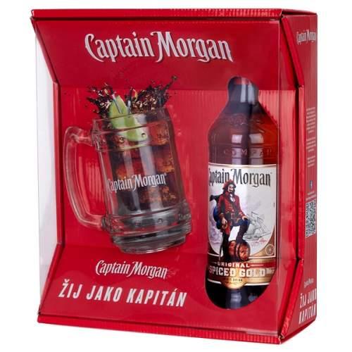 Captain Morgan Spiced Gold 0,7 35% + Korbel