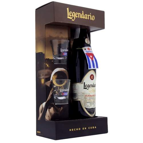 Legendario Elixir de Cuba 0,7l 34% (dárkové balení 2 skleničky)