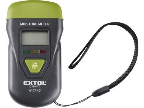 EXTOL CRAFT vlhkoměr pro měření vlhkosti dřeva, omítky a podobných materiálů