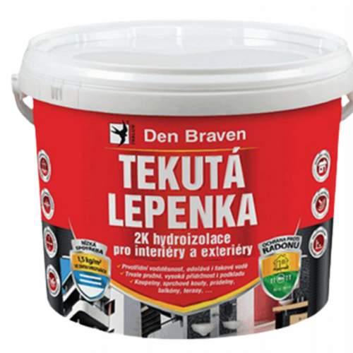 Den Braven - Tekutá lepenka, kbelík 7 kg, šedá