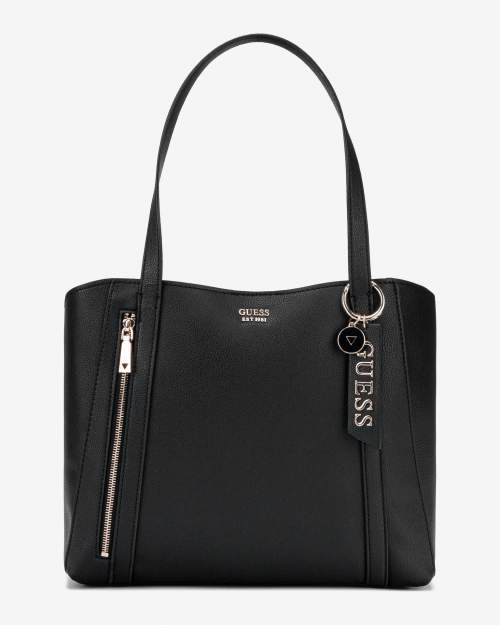 Guess černá kabelka Naya Front Zip
