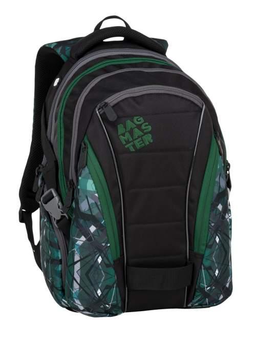 Bagmaster studentský batoh BAG 9 E Green/Gray/Black, 3 roky záruka