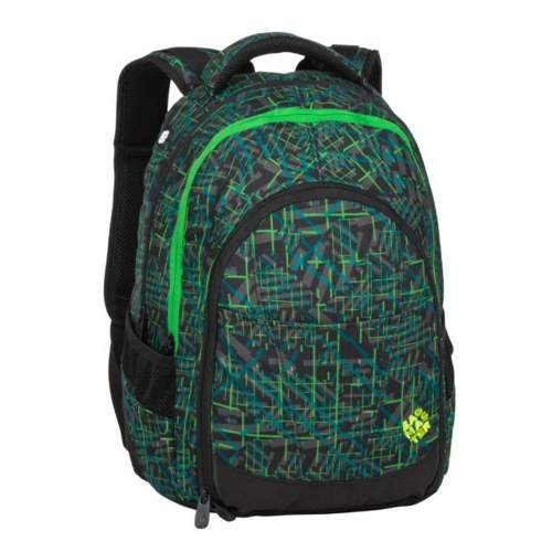 Bagmaster studentský batoh DIGITAL 20 D Green/Black/Gray, 3 roky záruka