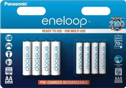 Panasonic Eneloop AA+AAA, akumulátory blistr 4+4 ks
