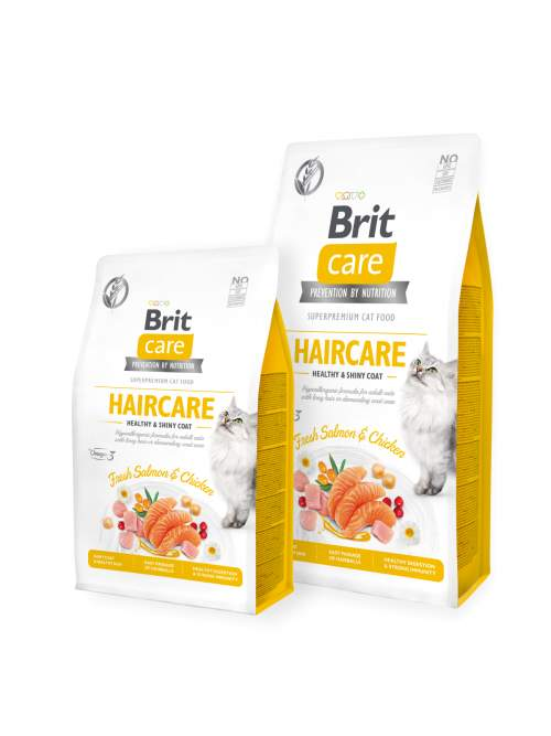 Brit Care Cat GF Haircare Healthy&ShinyCoat 7kg