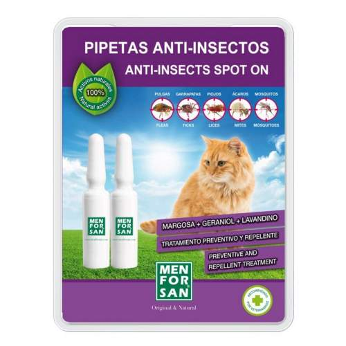 Menforsan Antiparazitní pipety pro kočky 2 x 1,5 ml