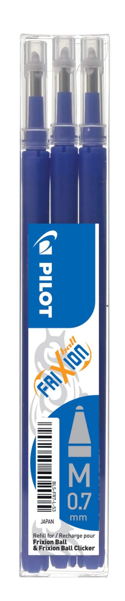 PILOT FriXion 0.7/0.35mm modrá 3ks