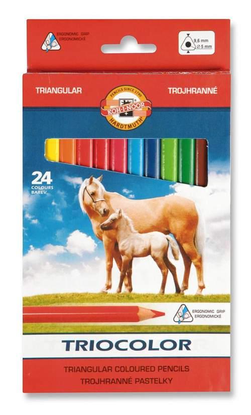 Koh-i-noor pastelky TRIOCOLOR 3144, 24 barev