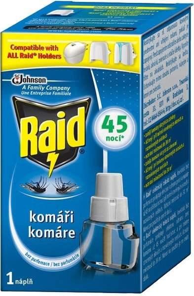 Raid tekutá náplň do elektrického odpařovače proti komárům 27 ml, 45 nocí