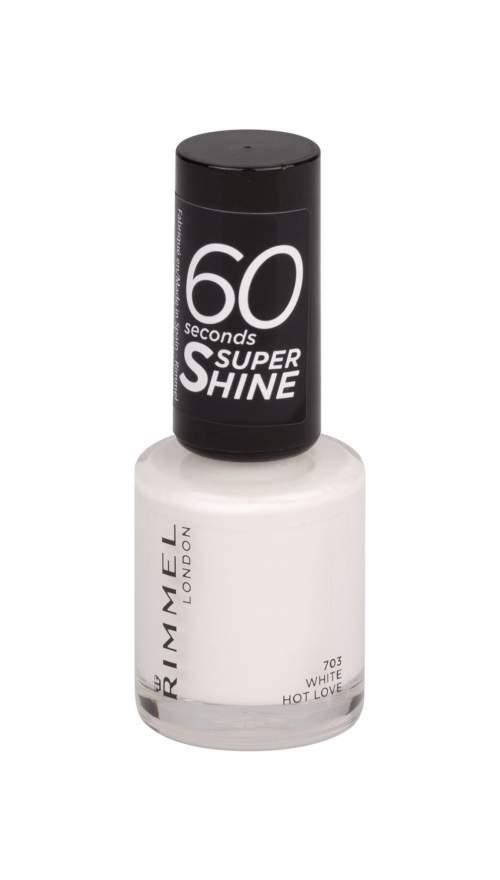 Rimmel London 60 Seconds Lak na nehty 8 ml odstín 703 White Hot Love