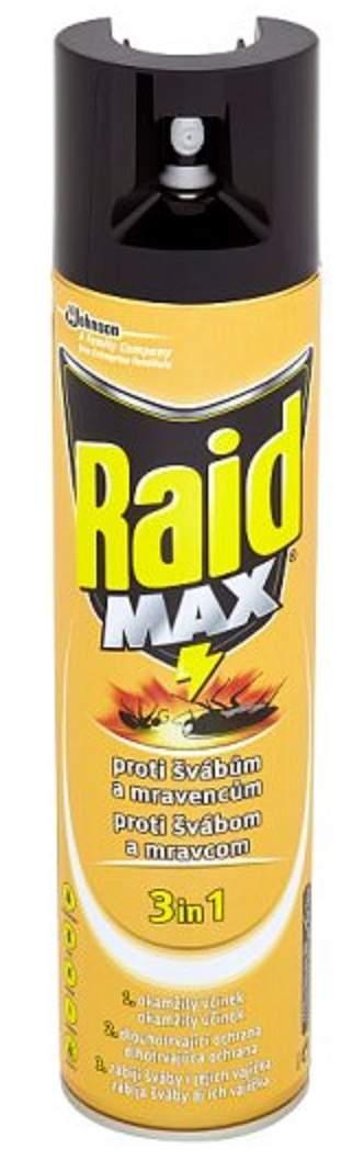 Raid Max Proti švábům a mravencům, proti lezoucímu hmyzu, 400 ml