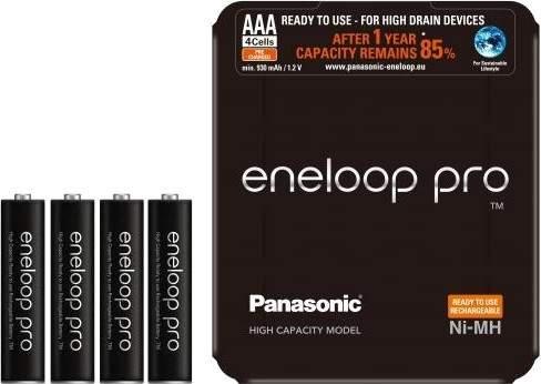 Panasonic Eneloop Pro AAA 4HCDE/4LE Sliding Pack, 4 ks